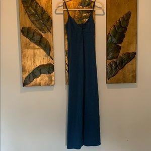 Dark blue maxi dress